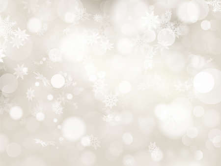 navidad elegante: Elegante fondo de Navidad con copos de nieve y lugar para el texto.