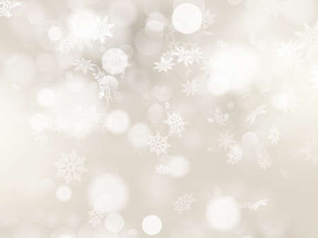 Christmas background with white snowflakes and place for your text.