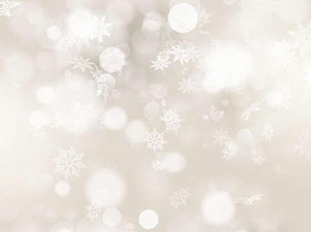 fond: Fond de Noël avec des flocons de neige blancs et le lieu pour votre texte.