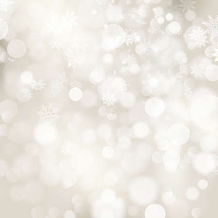 Christmas background with white snowflakes and place for your text. Vectores