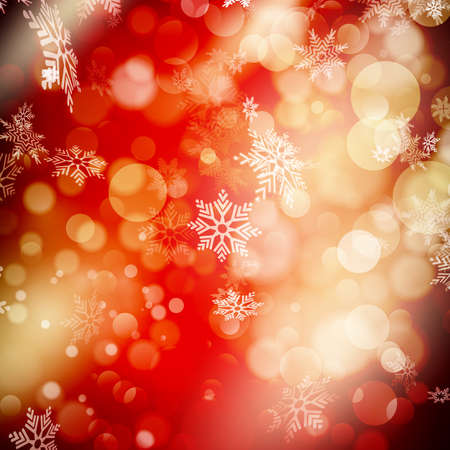 christmas fun: Defocused abstract red lights background. EPS 10 vector file included