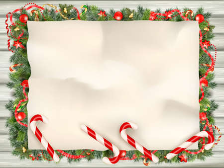wrinkled: Christmas card with wrinkled paper background. Elements are layered separately. EPS 10 vector file included