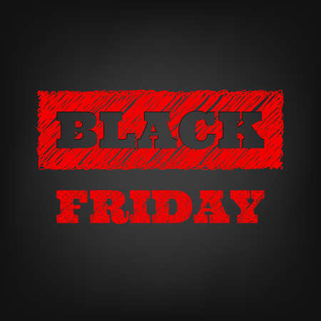 black: Black friday sale template. Illustration
