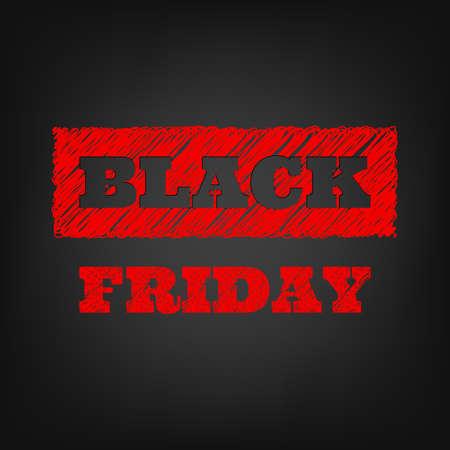 negro: Negro plantilla venta Viernes. Vectores