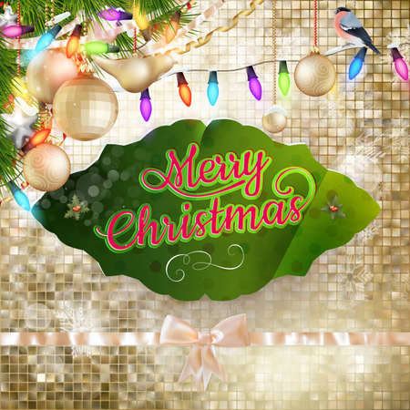 color image: Christmas decoration background. EPS 10 vector file included
