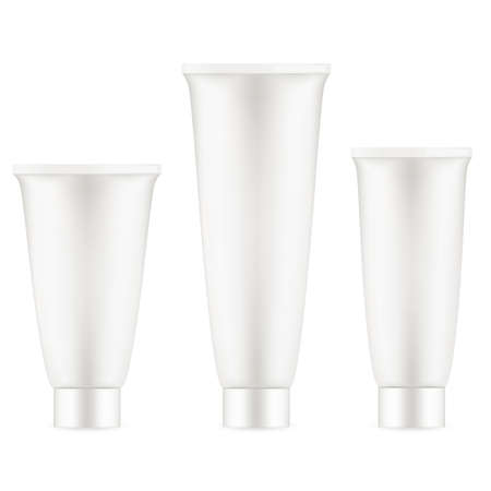 aftershave: Tube Of Cream Or Gel Grayscale Silver White Clean. EPS 10 vector file included Illustration