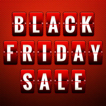 thanksgiving day symbol: Black friday sale, analog flip clock design. EPS 10 vector file included