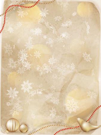 Noël de lumière carte de v?ux et des flocons de neige fond. Vacances Joyeux Noël souhaitent conception et la décoration ornement vintage. Nouveau message heureuse année. 10 fichier vectoriel EPS inclus