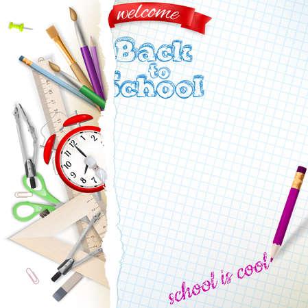 Bienvenido de nuevo al colegio. Archivo EPS 10 vector incluido