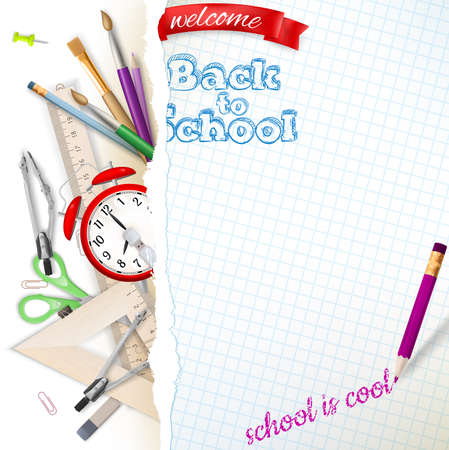 Welcome back to school. EPS 10 vector file included
