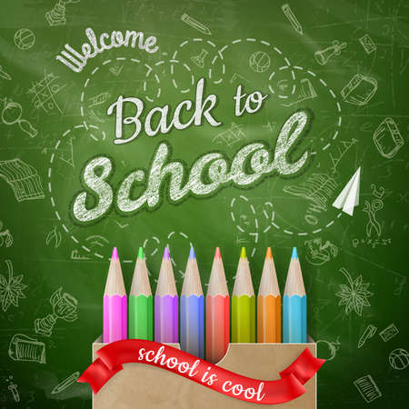 included: Back to school background. EPS 10 vector file included