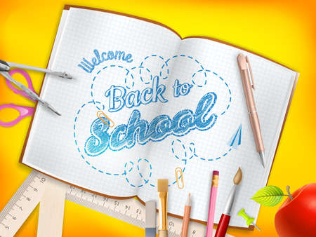 rubber sheet: Back to school background. EPS 10 vector file included