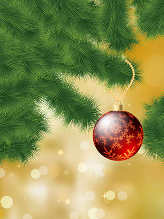 Baubles hanging on a christmas tree. EPS 8 vector file included Illustration