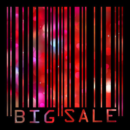 fictional: Big Sale bar codes all data is fictional. EPS 8 vector file included