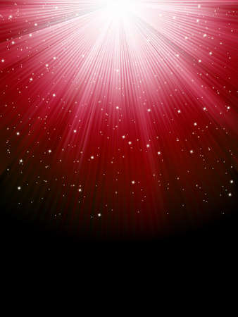 miraculous: Stars on red striped background. Festive pattern great for winter or christmas themes. EPS 8 vector file included Illustration