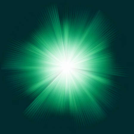 A Green color design with a burst. EPS 8 vector file included
