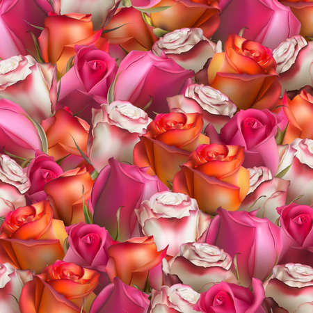 stilllife: Abstract background of flowers. Close-up. EPS 10 vector file included Illustration