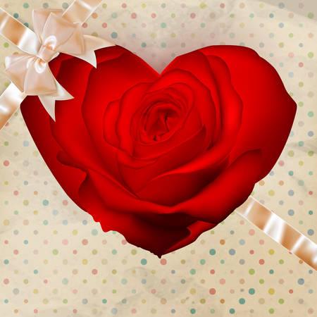 desig: Flower heart for Valentines day or wedding desig. EPS 10 vector file included Illustration