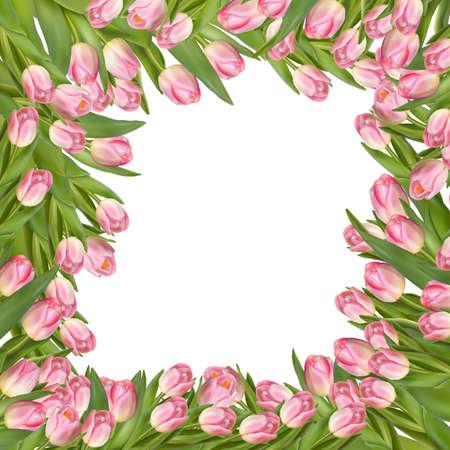 donna farfalla: Biglietto di auguri con sfondo fiore rosa. File EPS 10 vettore incluso Vettoriali