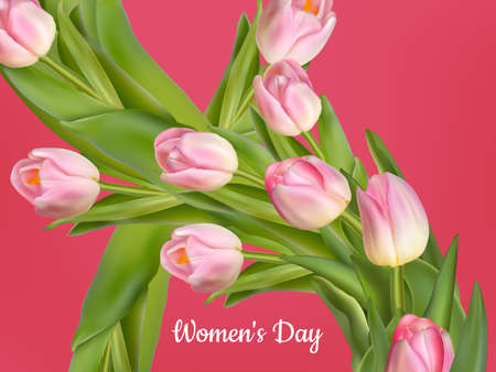 women s day: Happy Women s Day card.