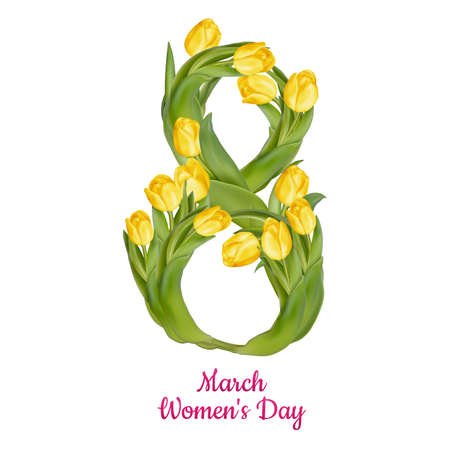 8 March Womens Day greeting card template. EPS 10 vector file included Ilustracja