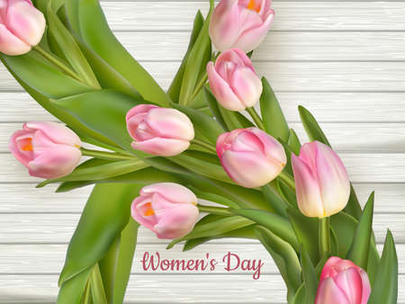 internationally: On the 8th of March is women s day .  vector file included