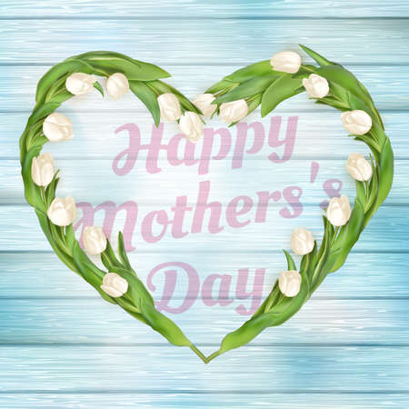 mother s: Close up of a beautiful bouquet of tulips. Mother s Day concept.  vector file included