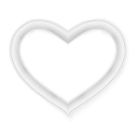 pictureframe: Heart picture frame isolated on white.   vector file included