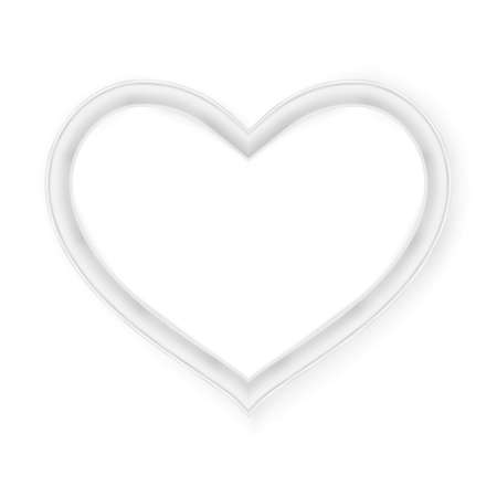 pictureframe: Heart picture frame isolated on white.  vector file included Illustration