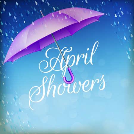 Parapluie sous la pluie.