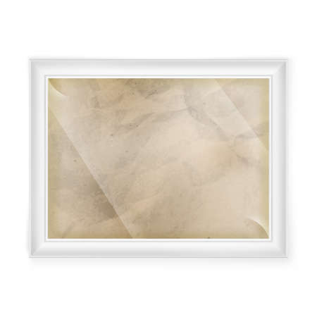 old paper texture: white frame with Old paper texture.