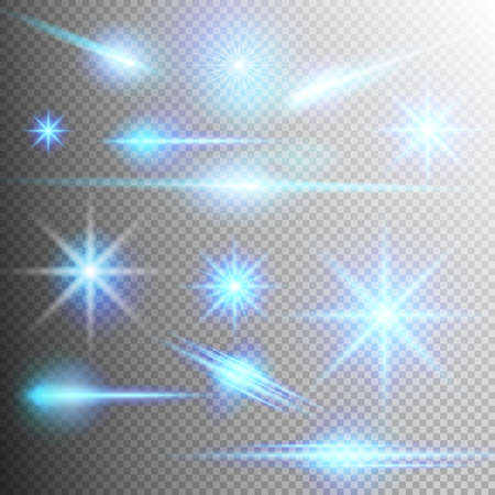 starlet: Creative concept set of glow light effect stars bursts with sparkles isolated on transparent background.