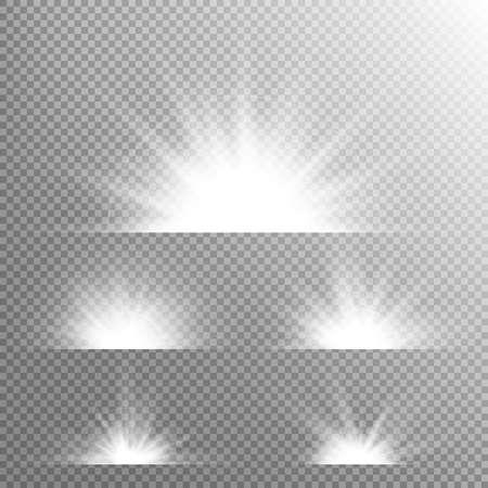 banner effect: Light effect stars bursts. Concept for illustration template art design, banner for Christmas celebrate.