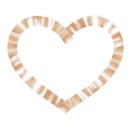 ribbon heart: Gold ribbon heart. EPS 10 vector file included Illustration