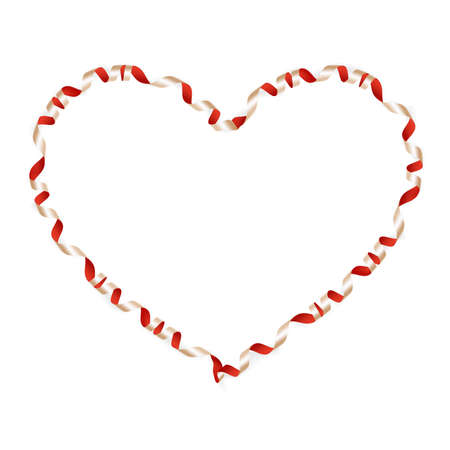 shaping: Valentines Day heart-shaped ribbon. EPS 10 vector file included