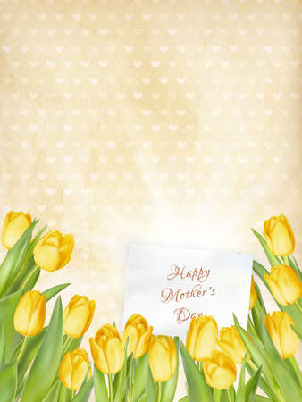 mother s: Happy mother s day, text on card.