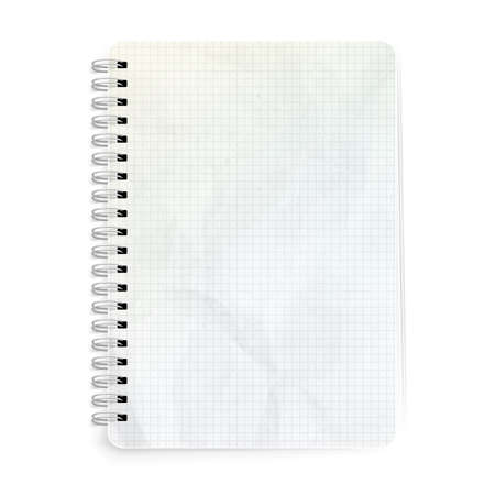copyspace: Template notepad design. Illustration