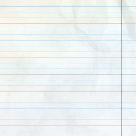 Realistic white lined sheet of notepad crumpled paper background.  イラスト・ベクター素材