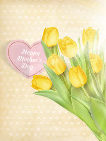 Beautifully Textured Card with Tulips.
