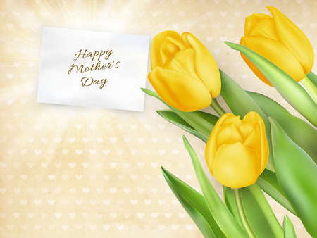 mother's day: Happy mothers day, text on card.