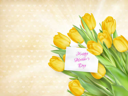 may: Happy mothers day, text on card.