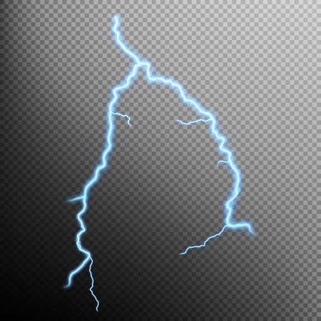 moody sky: Fulmini isolato su uno sfondo trasparente. File EPS 10 vettore incluso Vettoriali