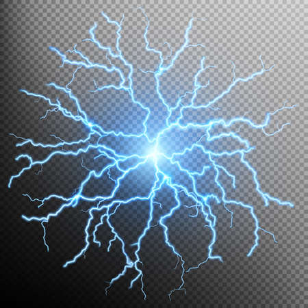 electric line: Blue flash light effect. EPS 10 vector file included