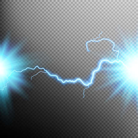 short: Electrical discharge. Lightning. Light effect. EPS 10 vector file included