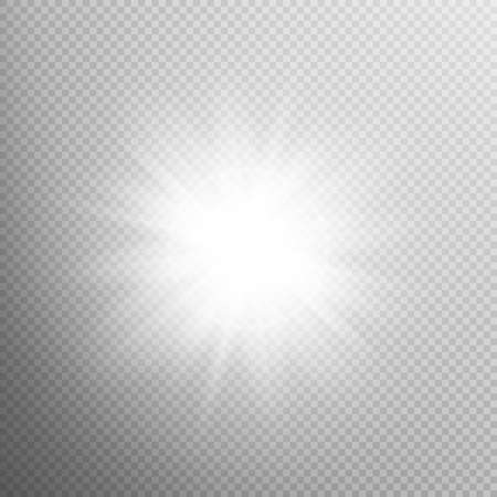 starlet: White glowing light burst explosion with transparent. Cool effect decoration with ray sparkles. Transparent shine gradient glitter, bright flare. Glare texture. EPS 10 vector file included