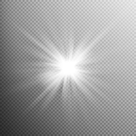 light burst: White glowing light burst explosion with transparent. Cool effect decoration with ray sparkles. Transparent shine gradient glitter, bright flare. Glare texture. EPS 10 vector file included