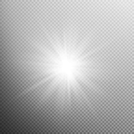 bright light: White glowing light burst explosion with transparent. Cool effect decoration with ray sparkles. Transparent shine gradient glitter, bright flare. Glare texture. EPS 10 vector file included