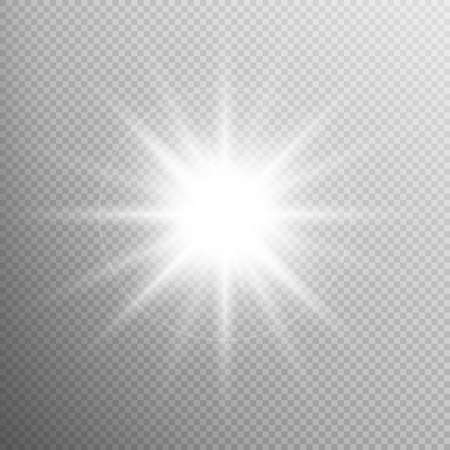 glare: White glowing light burst explosion with transparent. Cool effect decoration with ray sparkles. Transparent shine gradient glitter, bright flare. Glare texture. EPS 10 vector file included