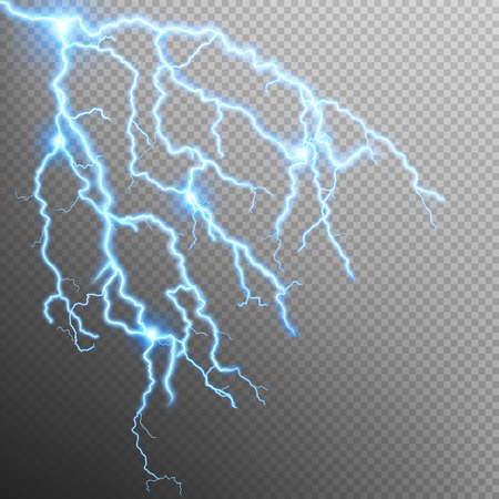 oblique: Blue oblique branchy lightning effect. Illustration