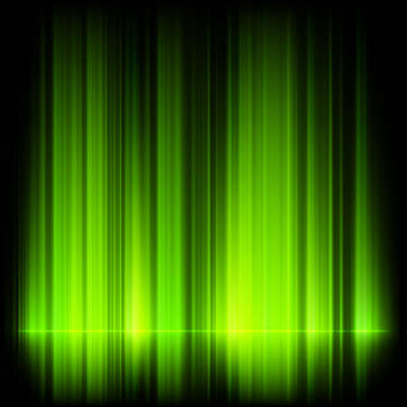 aurora borealis: Green northern lights, aurora borealis. EPS 10 vector file included